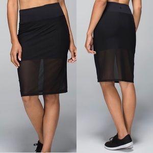 Lululemon Black Mesh Skirt